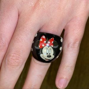 3/$15 NWOT Disney Minnie Mouse Plastic Puffy Ring